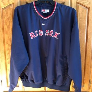 Nike Red Sox Men's V-Neck Pullover Windbreaker